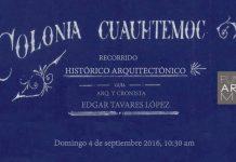 Recorrido Histórico Arquitectónico en la Colonia Cuauhtémoc : Cartel © FUNDARQMX