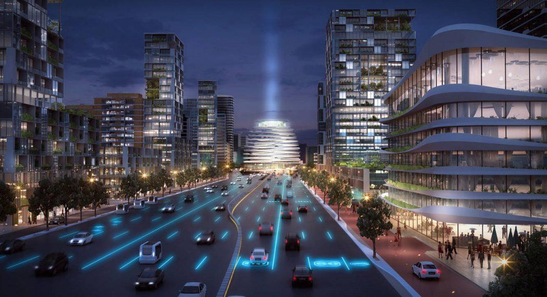 Lelylaan/A10 Conceptual Proposal for Urban Development in Amsterdam : Render © UNStudio