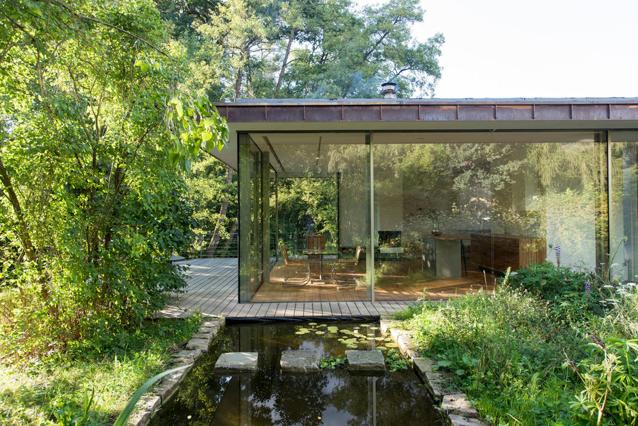House Rheder II View from Reflecting Pool : Photo credit © Thomas Mayer
