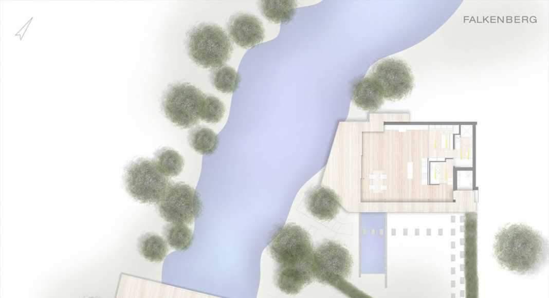 Plan of House Rheder II : Photo credit © Falkenberg innenarchitektur