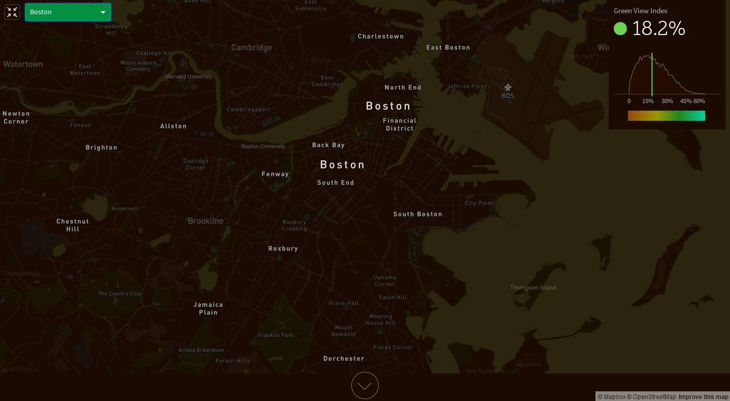 Treepedia Green View Index of the City of Boston : Photo © MIT Senseable City Lab
