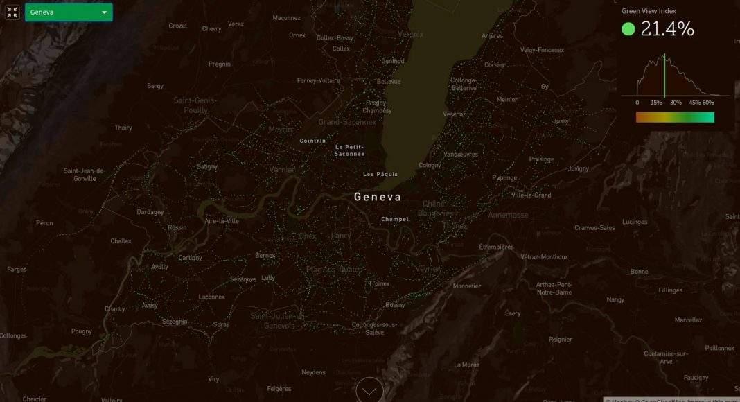 Treepedia Green View Index of the City of Geneva : Photo © MIT Senseable City Lab