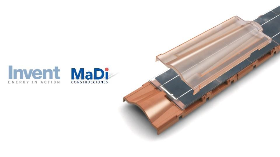 Presenta Invent Srl alianza estratégica con MaDi Construcciones para ofrecer Energía Eléctrica generada por Tejas fotovoltaicas : Photo © Invent Srl