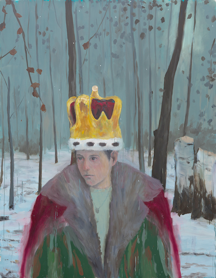 The Crown, 2015, óleo sobre lienzo, 100 x 78 inches (enmarcado). © Enrique Martinez Celaya. Courtesía del artista y de la Galería Jack Shainman Gallery, New York