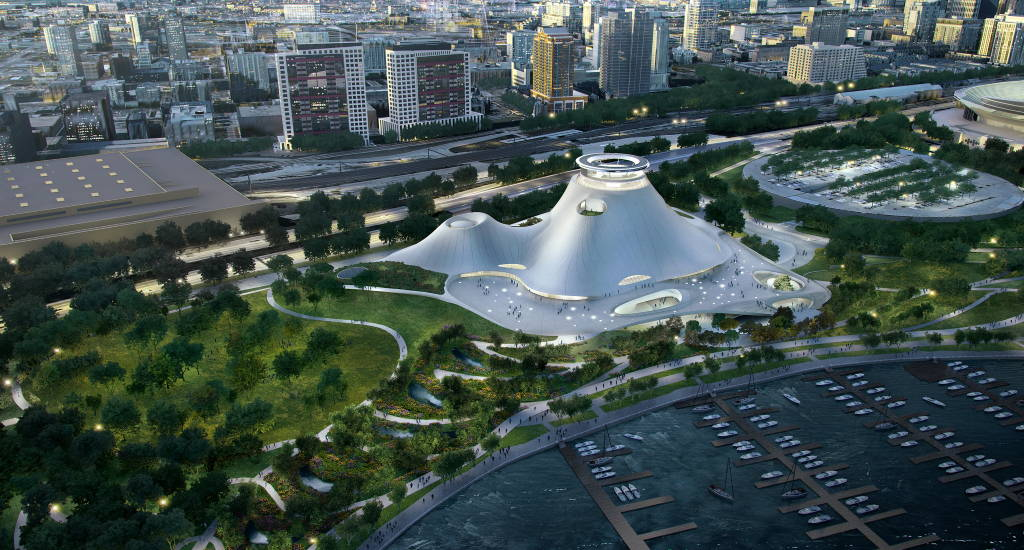 The Lucas Museum of Narrative Art, Chicago by MAD Architects Photo © MAD Architects