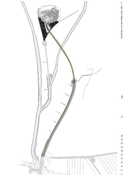 Restoring of the Mont Saint-Michel Site Plan : Drawing © DFA | Dietmar Feichtinger Architectes