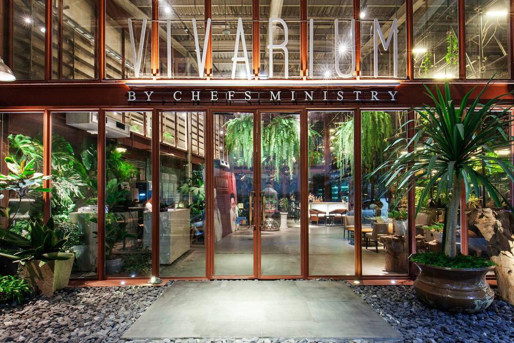 The entrance to the Vivarium restaurant : Photo credit © Hypothesis