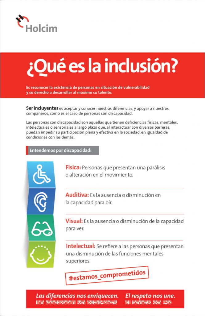 Qué es la inclusión : Infographic © Holcim México