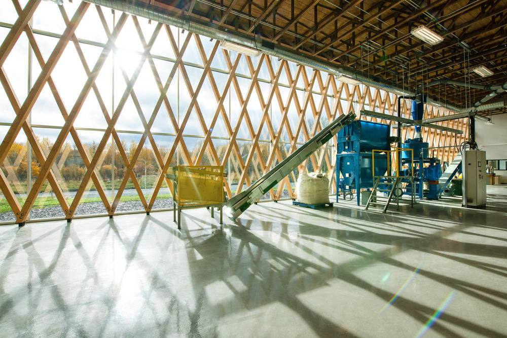 View of the biomass laboratory CTRI Building : Photo © Christian Perreault