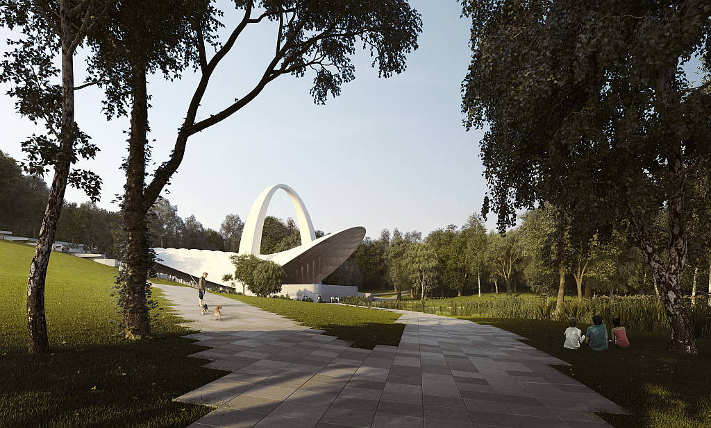 Szczecin Summer Theatre by Flanagan Lawrence Architects : Render © Flanagan Lawrence Architects