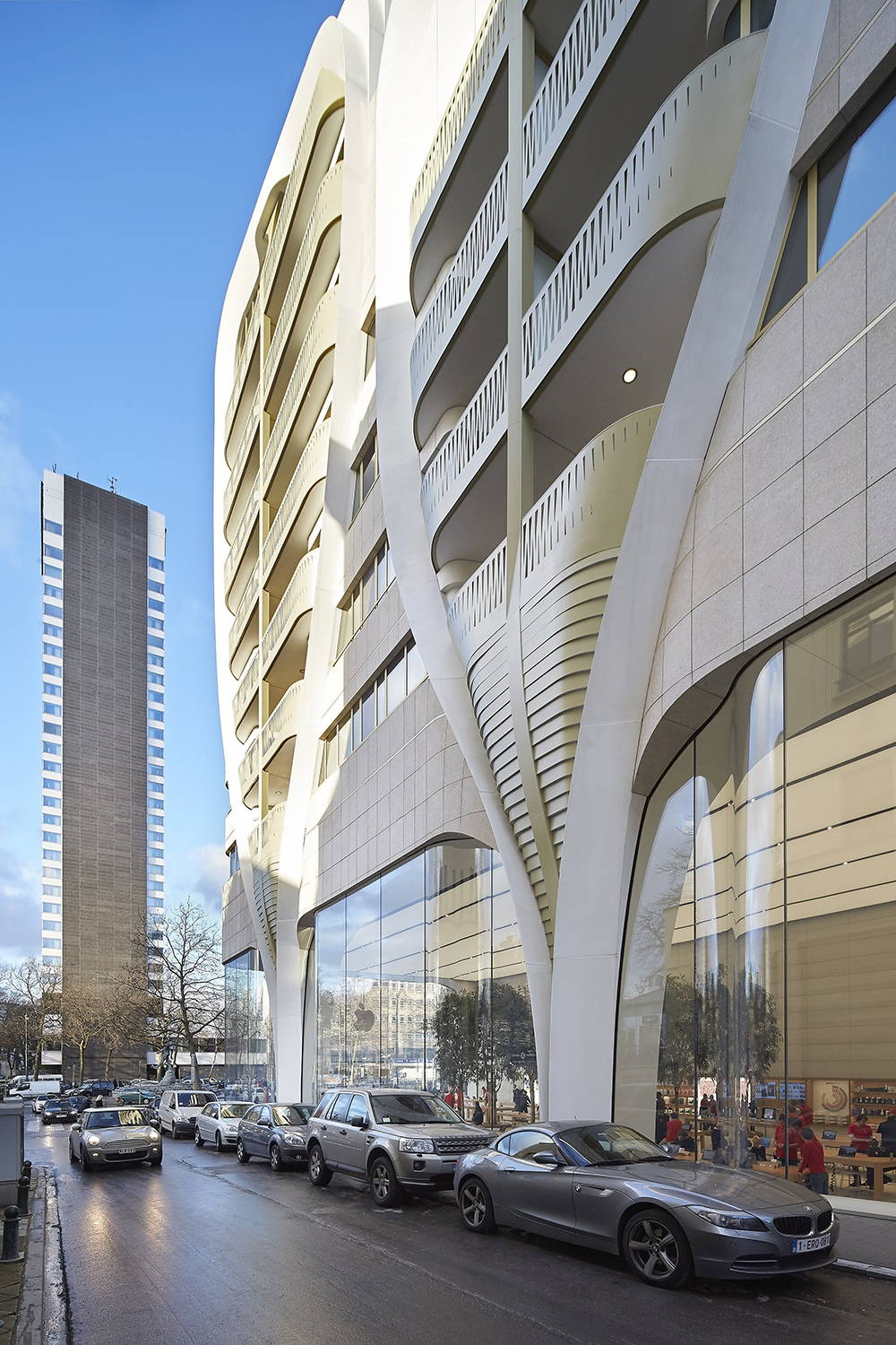 Mixed Use Building Toison d'Or in Brussels, Blegium by UNStudio : Photo © Hufton Crow