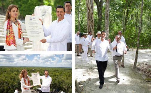 UNESCO entrega Diploma al Presidente Enrique Peña Nieto : Fotografía © Conaculta