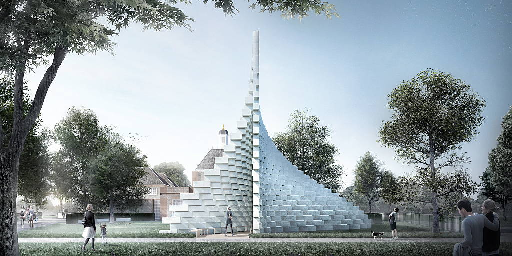 Serpentine Pavilion 2016 designed by Bjarke Ingels Group (BIG) : Design render © Bjarke Ingels Group (BIG)