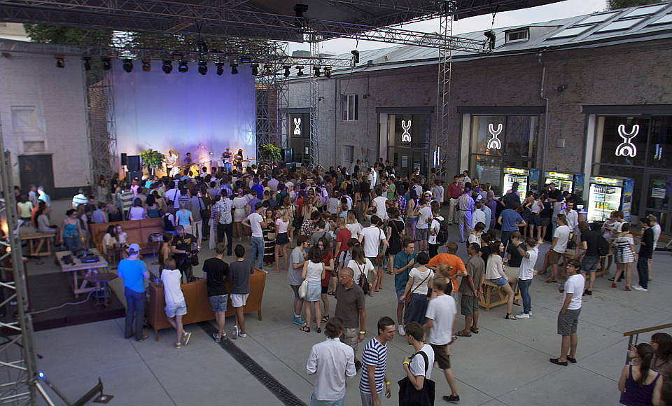 Strelka Institute Concert at the Courtyard of the School : Photo © Strelka Institute
