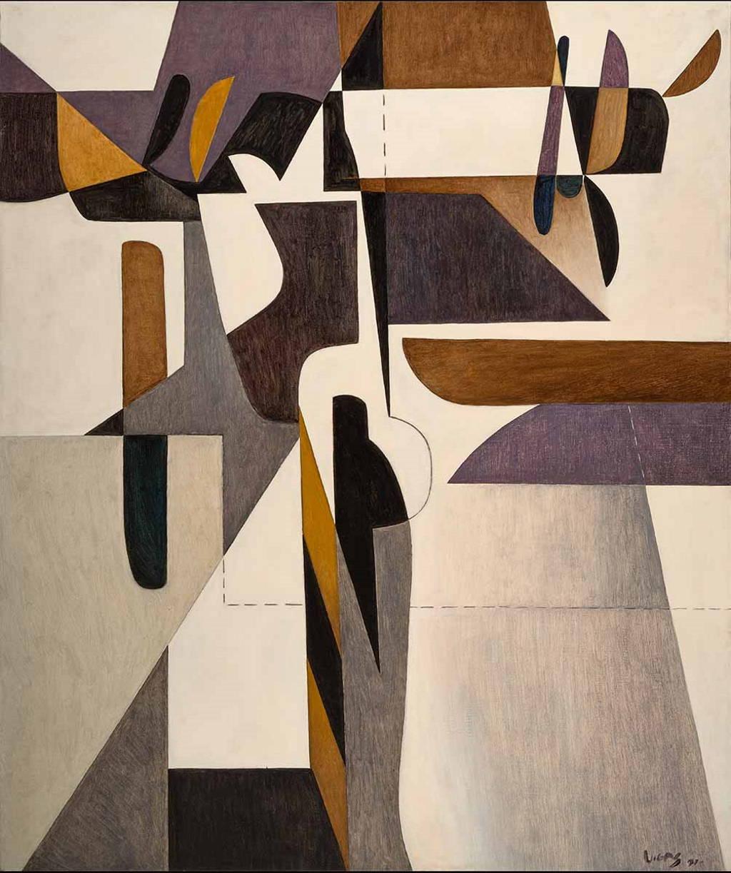"""Oswaldo Vigas. """"HIERÁTICA IV"""", 1971. Oil on canvas, 70.7 x 58.9 inches : Fotografía cortesía de la © Fundación Oswaldo Vigas"""