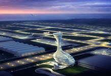 Un render del diseño creado por RMJM para la Torre de Control de Tráfico Aéreo en Estambul : Render © RMJM