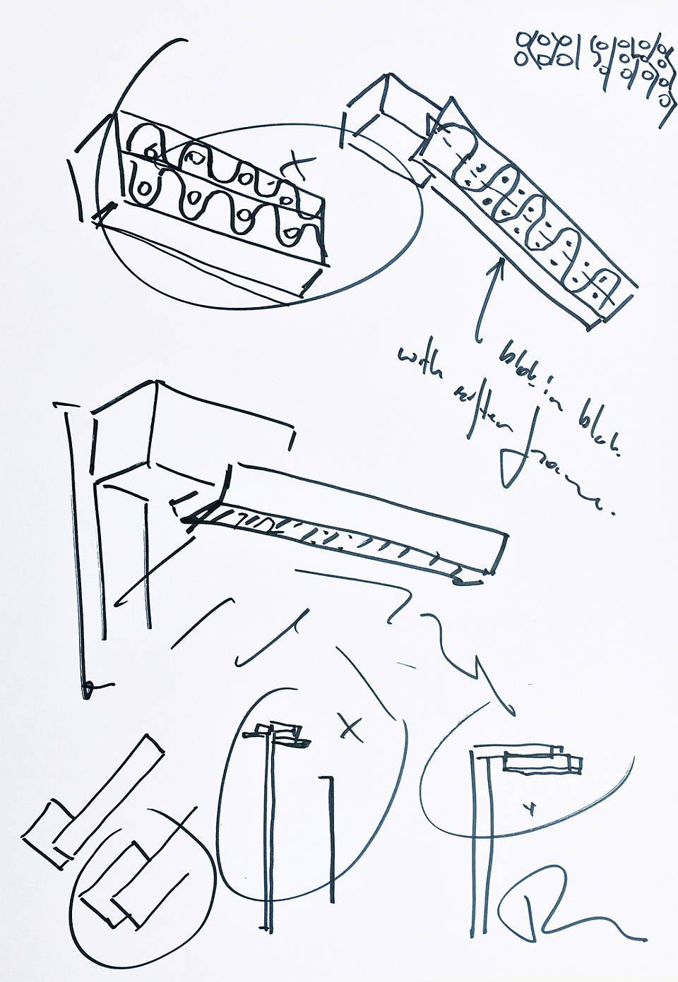Nightsight Design Sketch : Sketch © Ben van Berkel