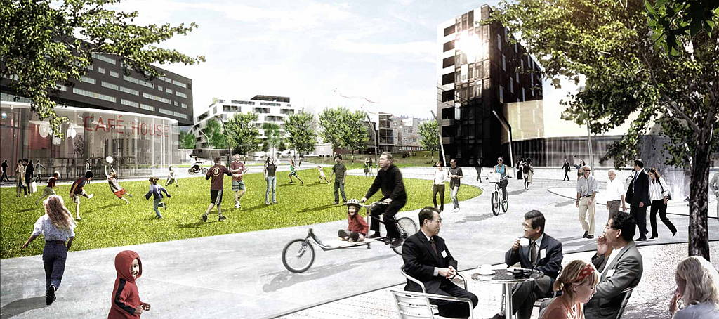Plan Maestro Vinge City por Henning Larsen Architects : Render © Henning Larsen Architects