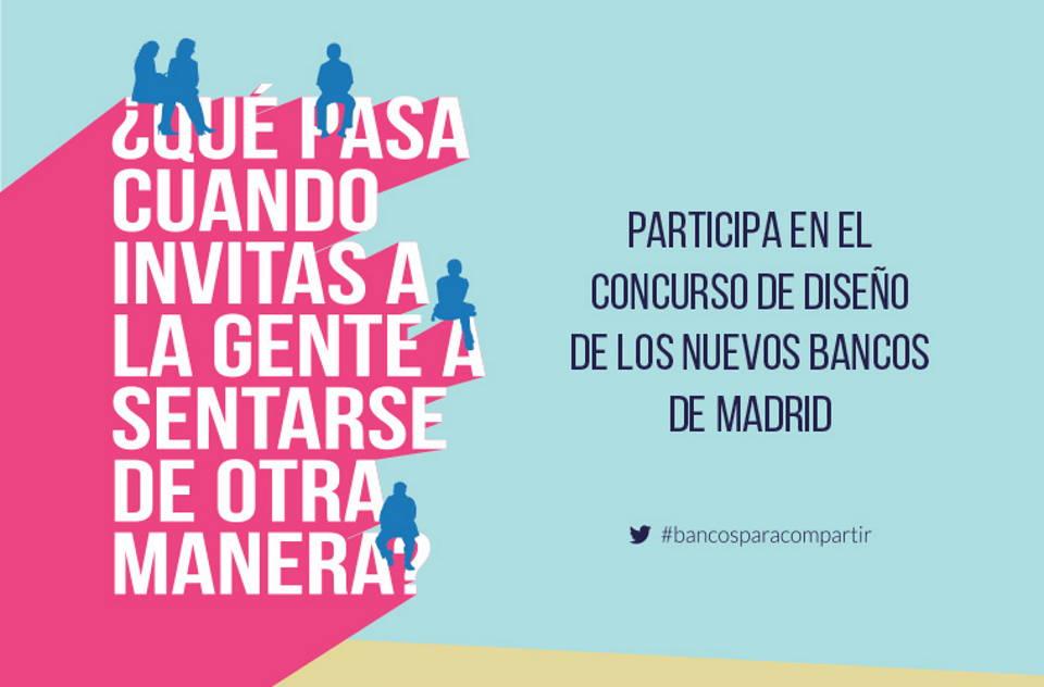 Concurso de ideas para el diseño de una pieza de mobiliario urbano para la ciudad de Madrid : Cartel © Oficina de Concursos del COAM (OCAM)