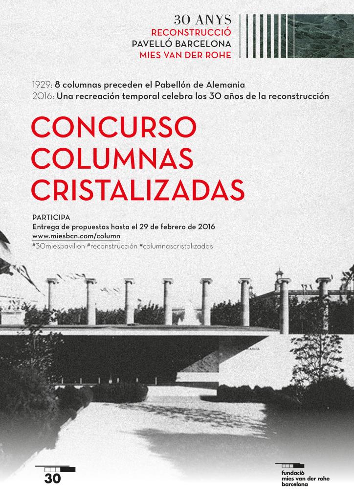 Concurso Columnas Cristalizadas : Cartel © Fundació Mies van der Rohe Barcelona