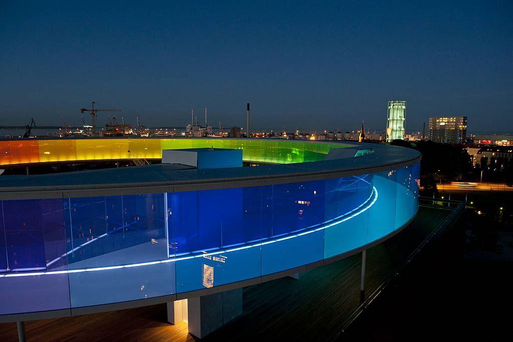 Your Rainbow Panorama ARoS Art Museum by Olafur Eliasson, 2011 : Photo © Ole Hein Pedersen