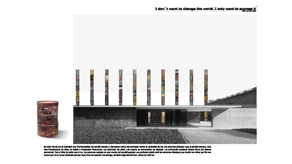 Ganador del Concurso Columnas Cristalizadas organizado por la Fundació Mies van der Rohe Barcelona : Fotografía © Luis Martínez Santa-María