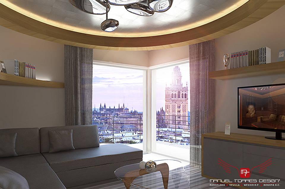 El lujo Interior de un apartamento en la Ciudad de Sevilla por MANUEL TORRES DESIGN