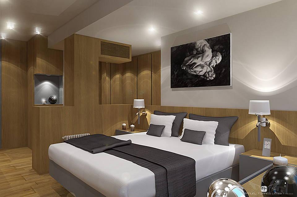El lujo Interior de un apartamento en la Ciudad de Sevilla por MANUEL TORRES DESIGN : Render © MANUEL TORRES DESIGN