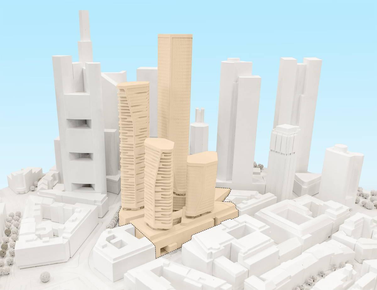 Imágen del modelo de la propuesta elaborada por UNStudio : Model Image © UNStudio