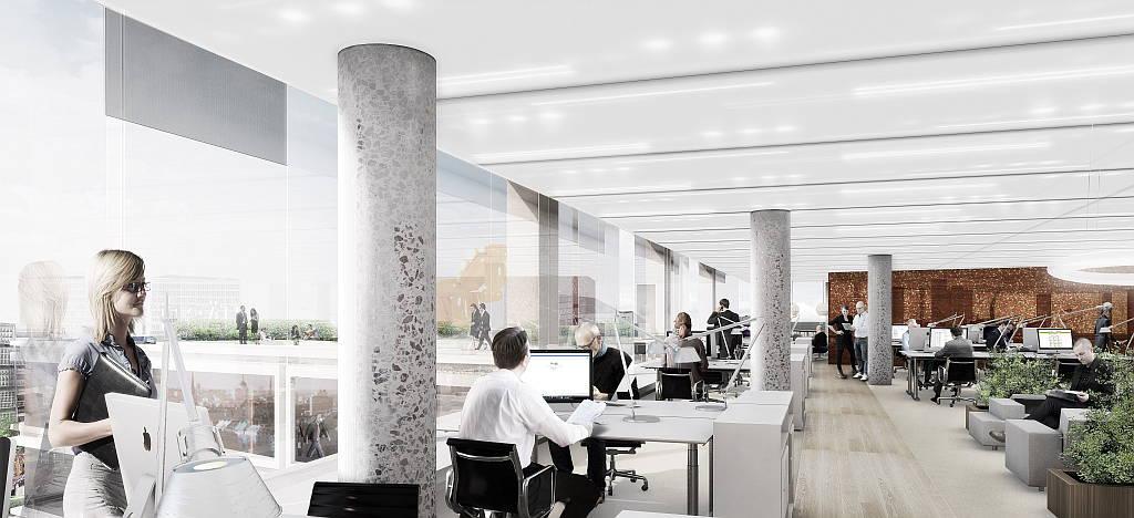 Hästen 21 Stockholm Office Space designed by Schmidt Hammer Lassen Architects : Render © Schmidt Hammer Lassen Architects