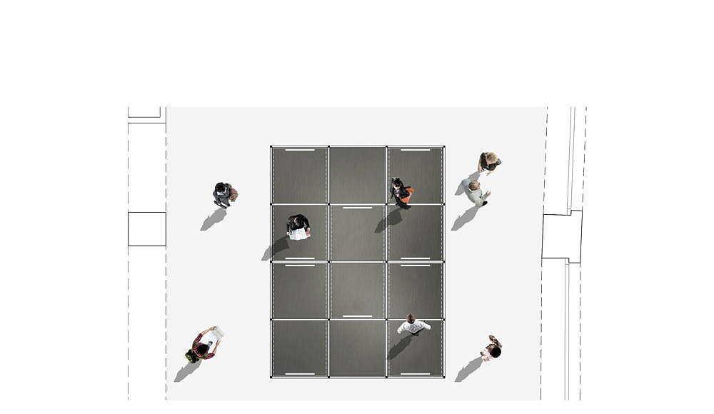 "ALBUM ""Bff016"" Plan propuesta ganadora del concurso Florim4Architects diseñado por SET Architects para Florim : Drawing © SET Architects"