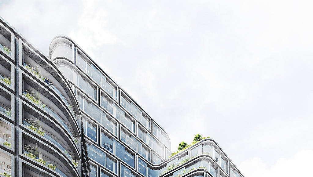 Hästen 21 Stockholm Terraces designed by Schmidt Hammer Lassen Architects : Render © Schmidt Hammer Lassen Architects
