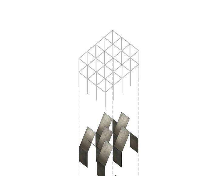 """ALBUM """"Bff016"""" Exploded Axonometry propuesta ganadora del concurso Florim4Architects diseñado por SET Architects para Florim : Drawing © SET Architects"""