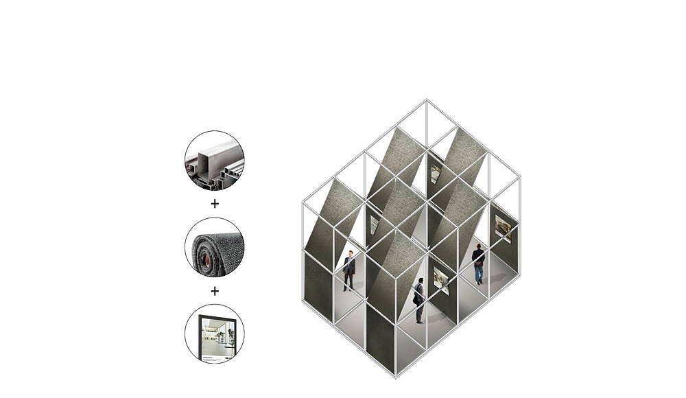 """ALBUM """"Bff016"""" Axonometry propuesta ganadora del concurso Florim4Architects diseñado por SET Architects para Florim : Drawing © SET Architects"""