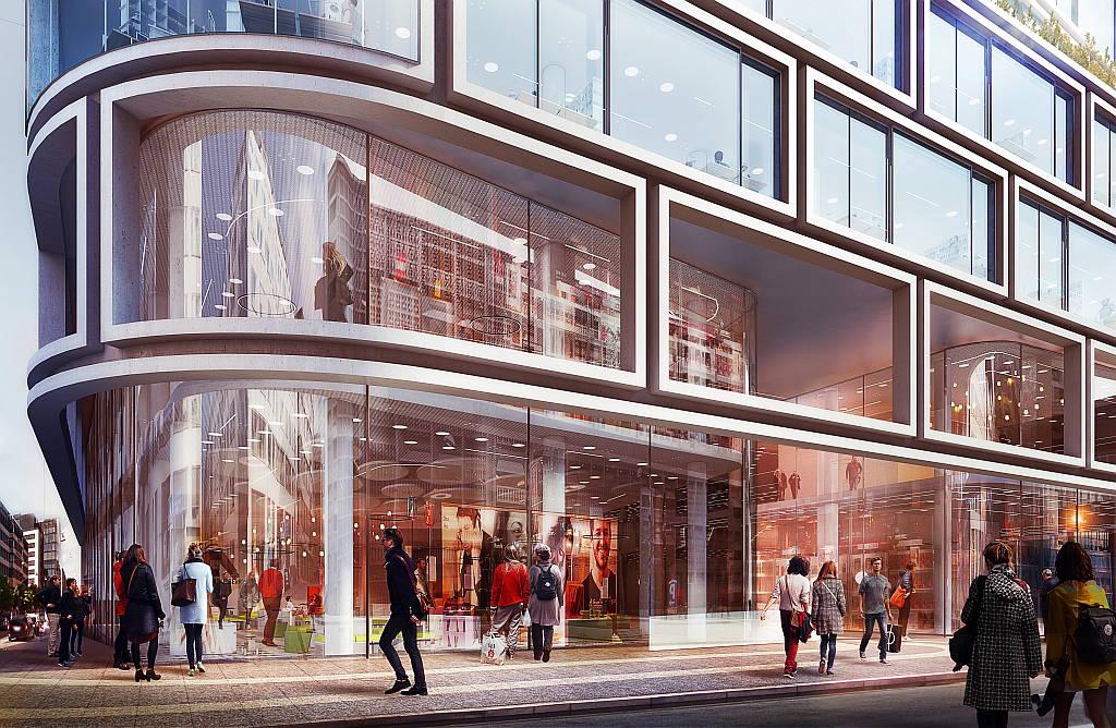 Hästen 21 Stockholm Retail Entrance designed by Schmidt Hammer Lassen Architects : Render © Schmidt Hammer Lassen Architects