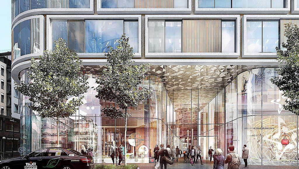 Hästen 21 Stockholm Retail Front designed by Schmidt Hammer Lassen Architects : Render © Schmidt Hammer Lassen Architects