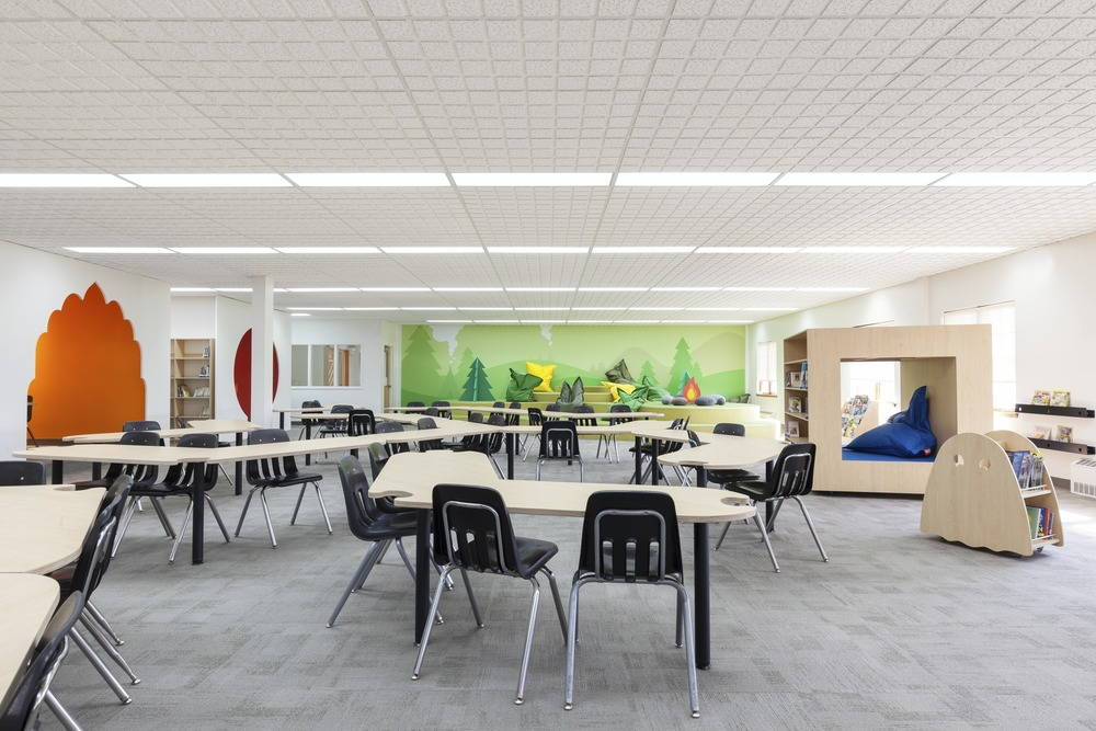 Sainte-Anne Academy Library : Photo credit © Maxime Brouillet