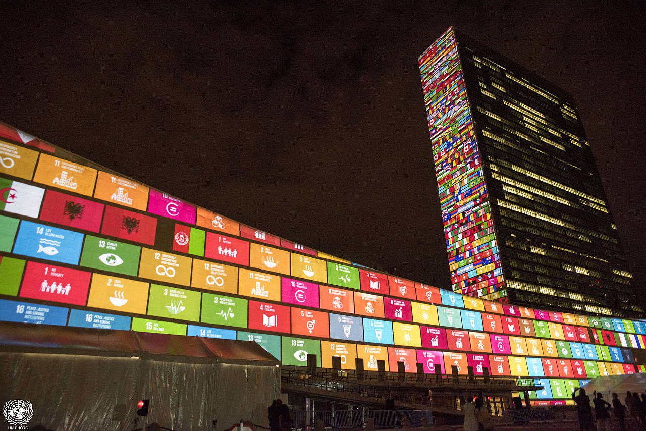Projections on Sustainable Development Goals and 70th Anniversary of the United Nations : Photo © United Nations Photo