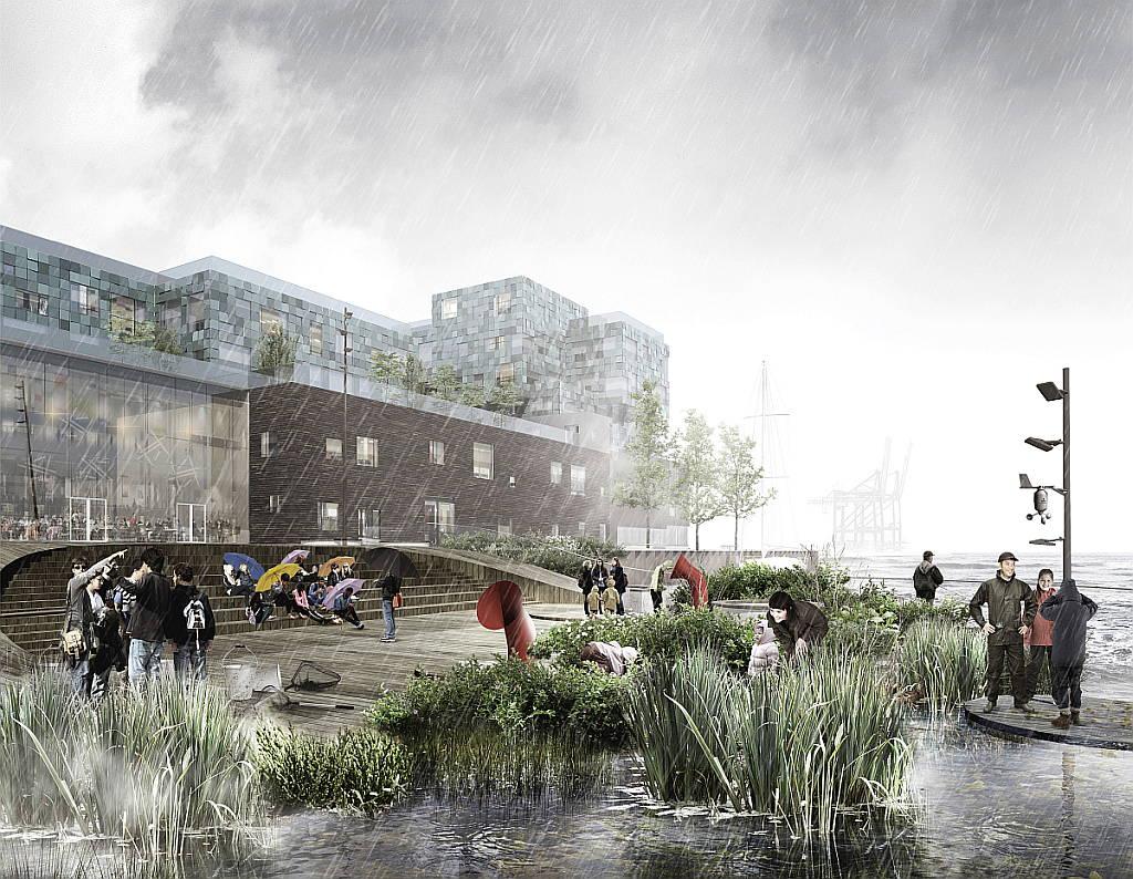 C.F. Møller Landscape gana concurso para un proyecto acuático único : Render © C.F. Møller Landscape