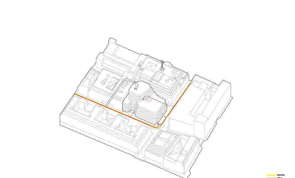 Hästen 21 Stockholm Access : Diagram © Schmidt Hammer Lassen Architects
