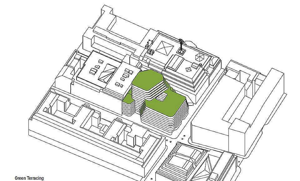 Hästen 21 Stockholm Green Terracing : Diagram © Schmidt Hammer Lassen Architects
