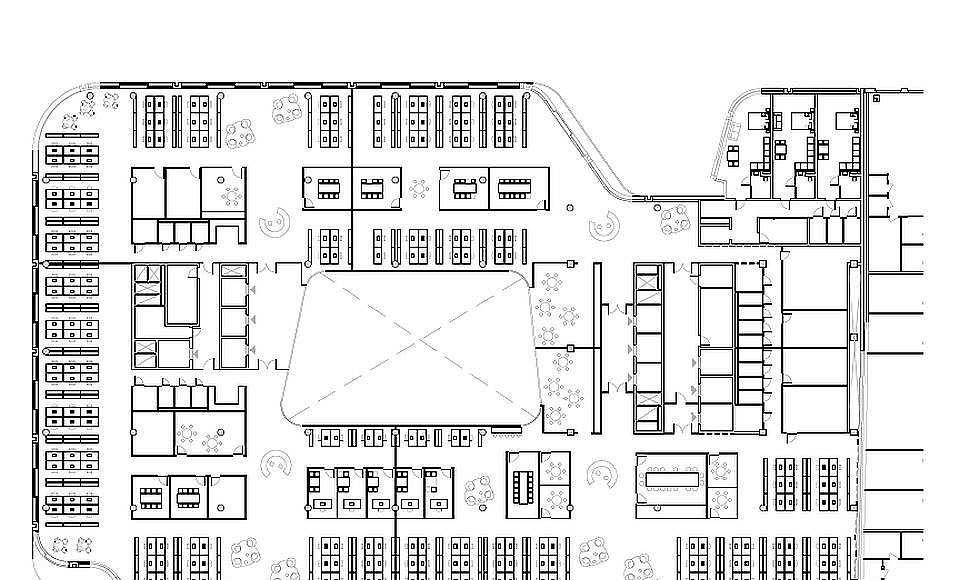 Hästen 21 Stockholm Office Plan : Drawing © Schmidt Hammer Lassen Architects