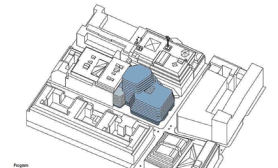 Hästen 21 Stockholm Program : Diagram © Schmidt Hammer Lassen Architects