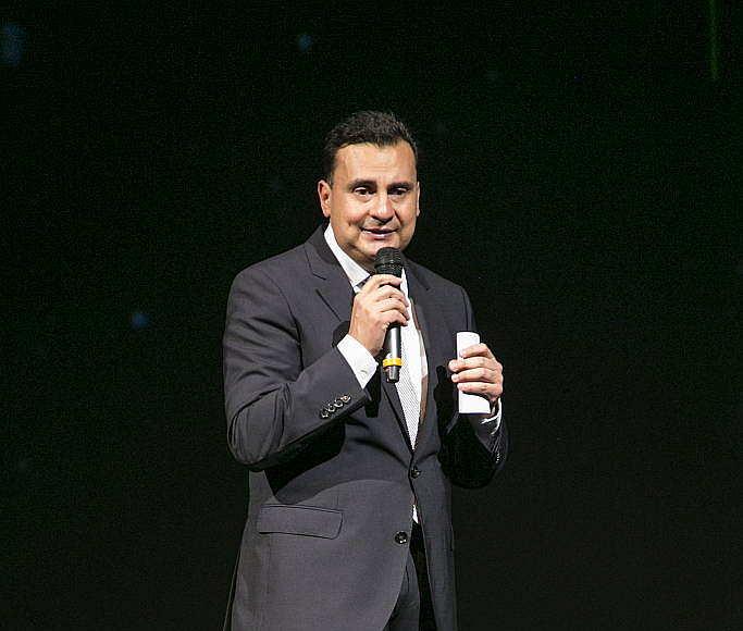 Jorge Cortés, VP de la División Partner Retail durante el lanzamiento de la línea Orion de Schneider Electric México en el Foro Masaryk : Fotografía © Schneider Electric México