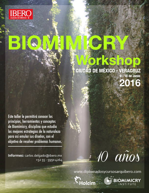 Biomimicry Veracruz Workshop 2016 : Cartel © Arq IBERO