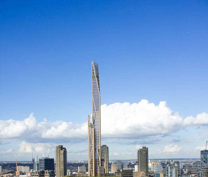 The Barbicam skyscraper concept by Cambridge University, PLP Architecture and Smith and Wallwork Engineers : Photo © University of Cambridge