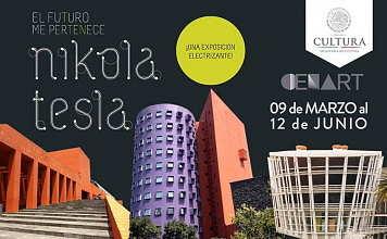Exposición El futuro me pertenece: Nikola Tesla : Cartel © Centro Nacional de las Artes
