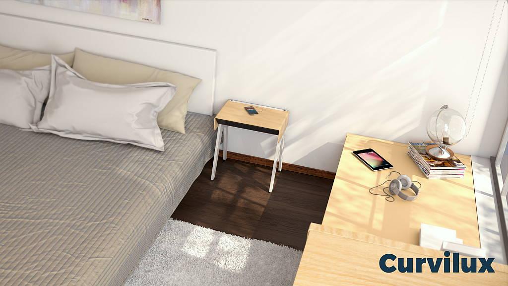 Curvilux la primera mesa de noche inteligente : Fotografía © Curvilux