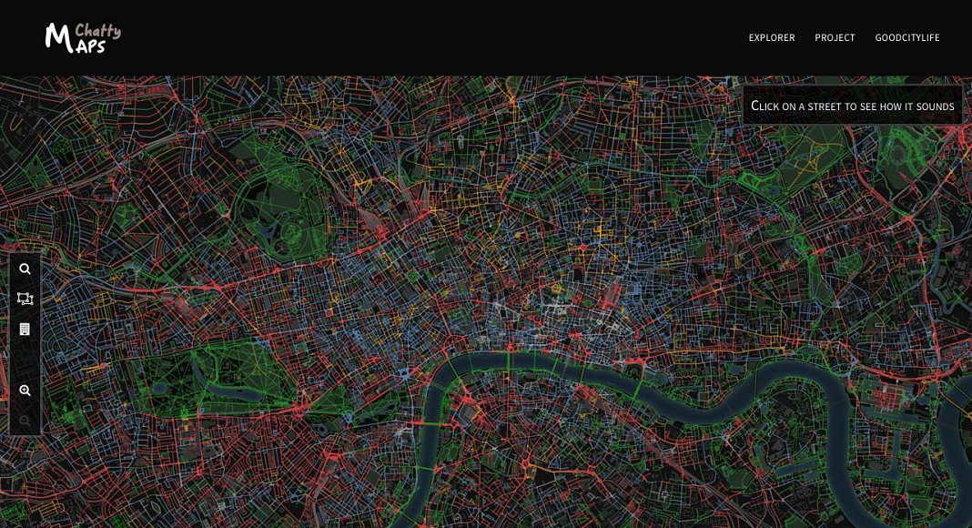 Paisaje Sonoro de la Ciudad de Londres : Imágen © Chatty Maps
