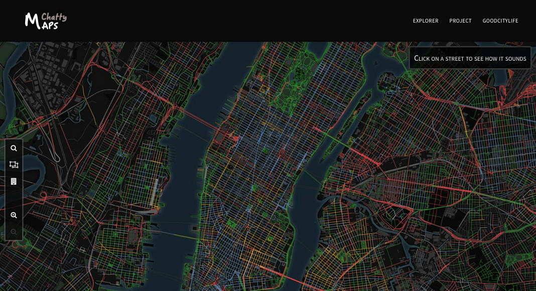 Paisaje Sonoro de la Ciudad de Nueva York : Imágen © Chatty Maps